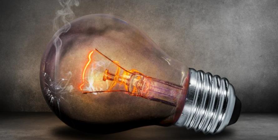 Електрика, лампочка, світло, відключення електрики