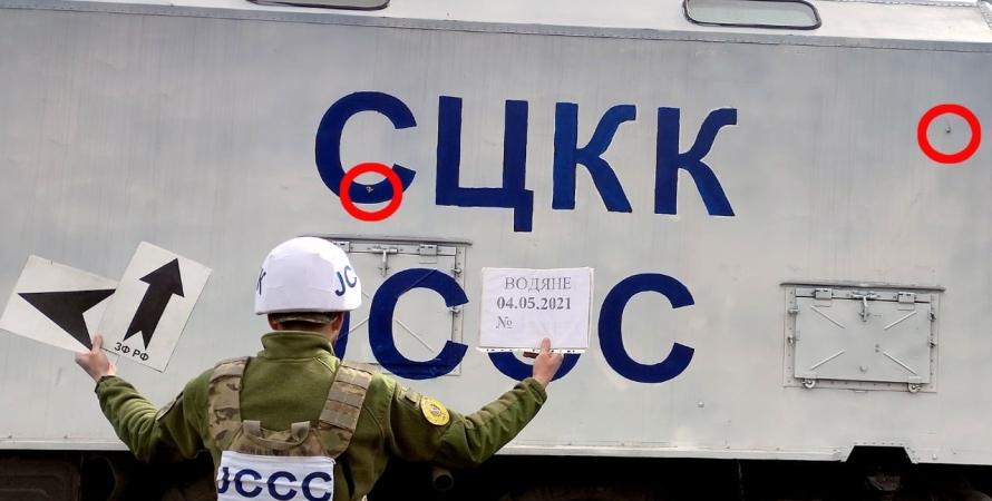 війна на Донбасі, обстріли на Донбасі, СЦКК, бойовики, обстріл автомобіля СЦКК