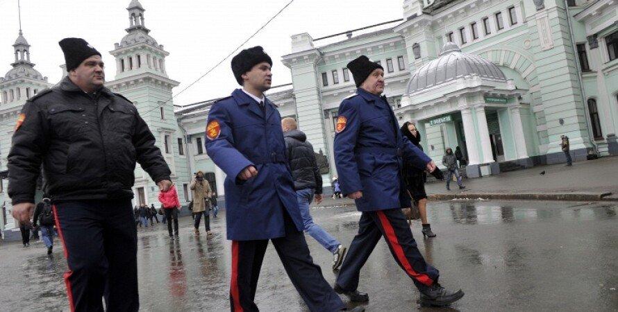 Казачьи патрули в Москве / Фото: ИТАР-ТАСС, Сергей Бобылев