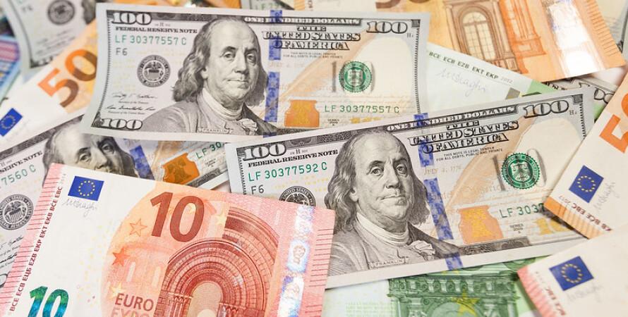 банкноты, доллар, евро