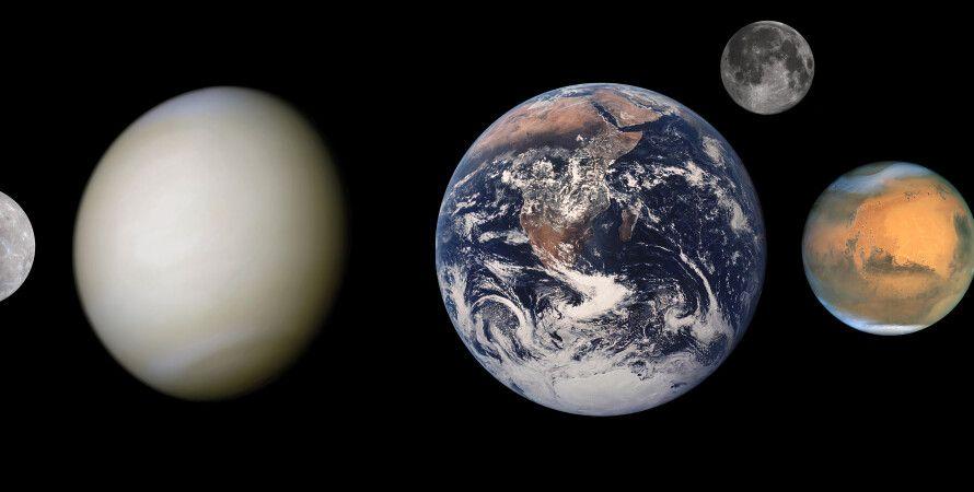 планеты, круглая форма, гравитация, Вселенная