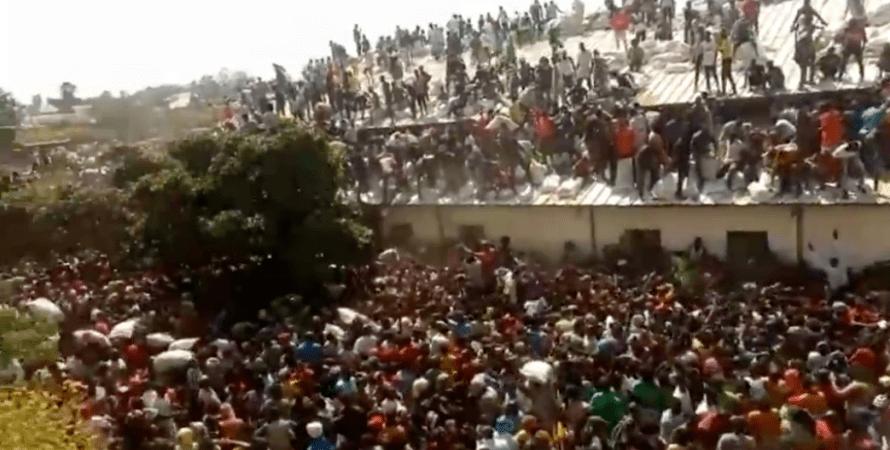 голодающие, нигерия, протесты