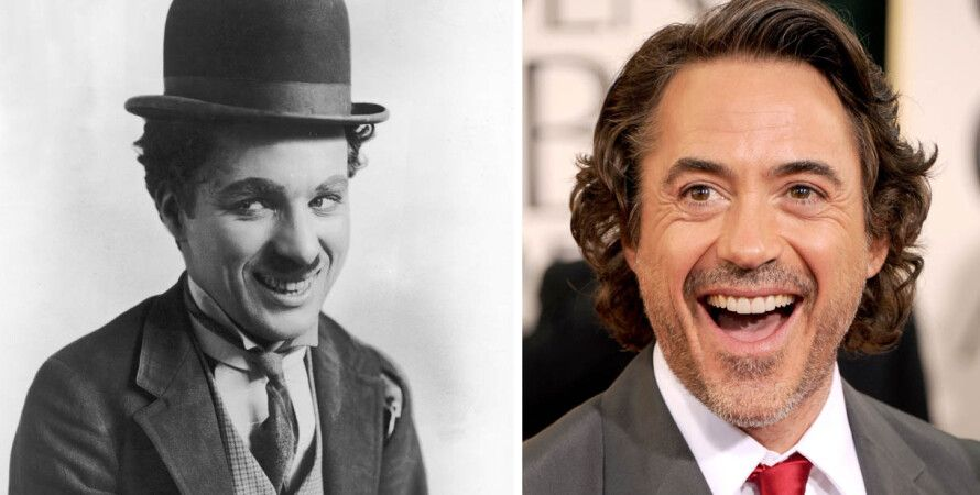 Чарли Чаплин и Роберт Дауни — младший / Фото: Getty Images