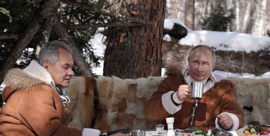 Владимир Путин, Сергей Шойгу, Сибирь, Вездеход, Зима, Кремль