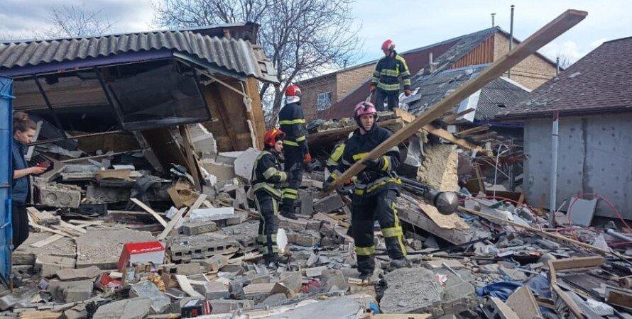 Взрыв в Киеве, ГСЧС, нацполиция, соломенский район, завалы, спасатели, взрыв газа