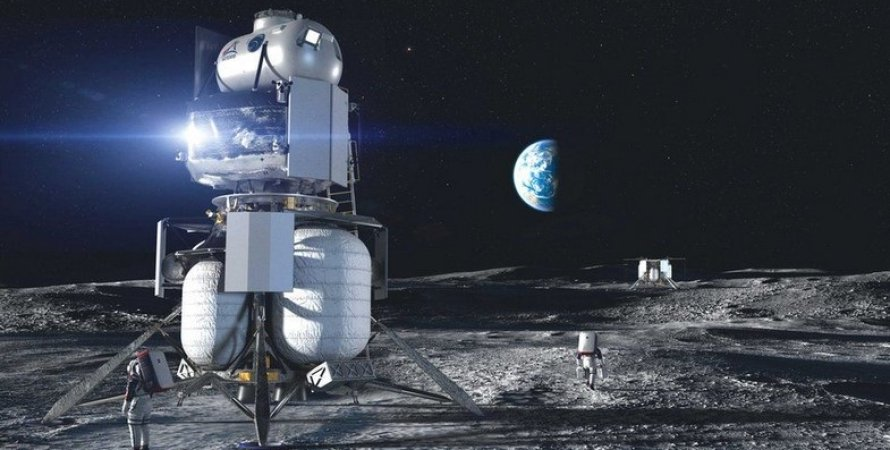 Посадочный аппарат Blue Moon от компании Blue Origin