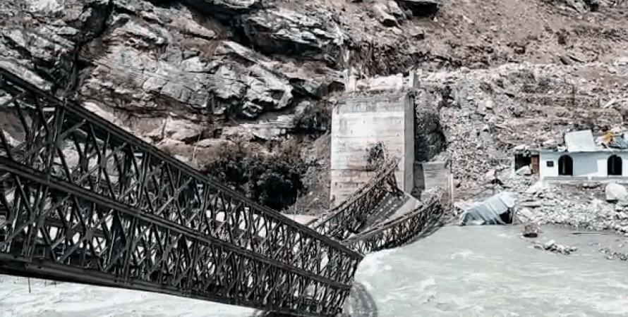 индия, разрушенный мост, фото