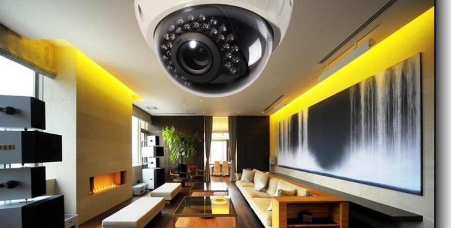 камера наблюдения, дом, видеокамера, квартира