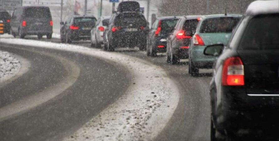 Киев, Пробки, Погода, Снегопад, Транспорт