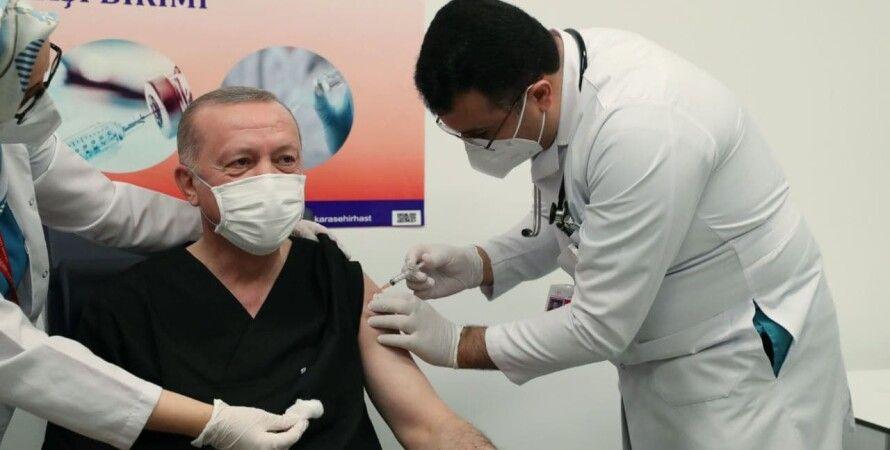 Эрдоган, вакцина, турция, прививка, коронавирус