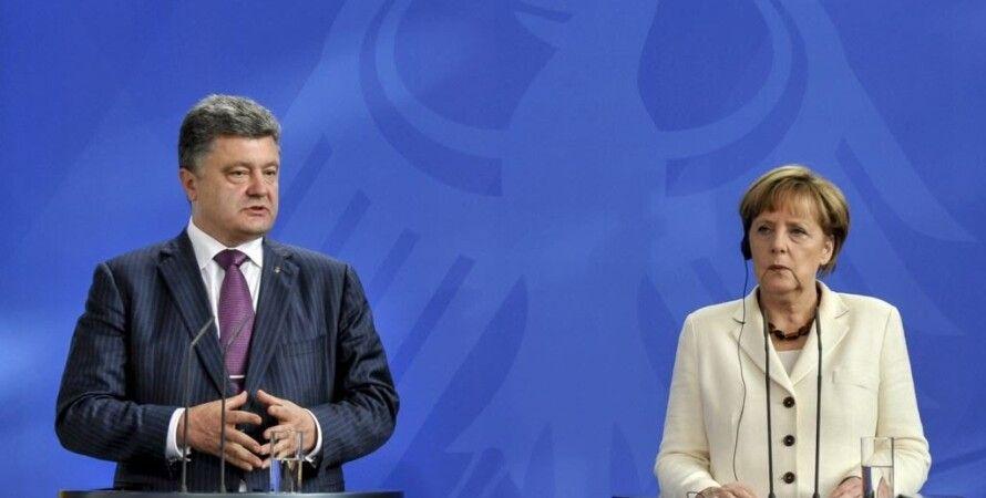 """Петр Порошенко и Ангела Меркель / Фото: РИА """"Новости"""""""