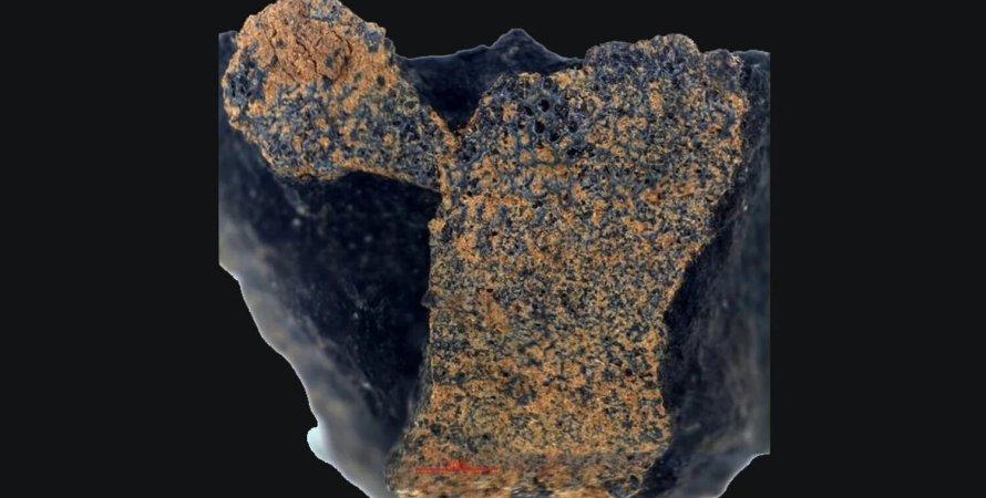 метеорит, снимок, камень