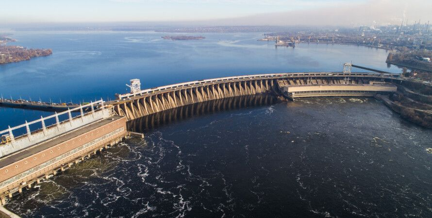 Дніпрогес з висоти, електростанція, ГЕС, Дніпро, план ГОЕЛРО