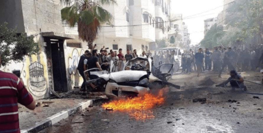 Сектор Газа, удар по автомобилю, ракетный обстрел, израильско-палестинский конфликт