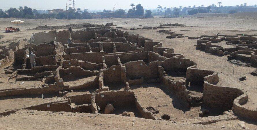 """древний египет, аменхотеп, тутанхамон, раскопки, Остатки города """"Возвышение Атона"""""""