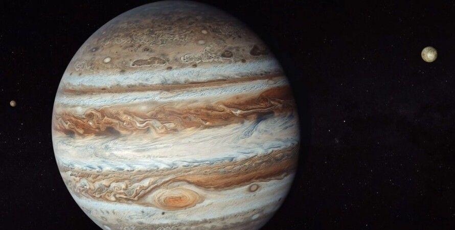 Юпітер, земля, астероїд, динозаври