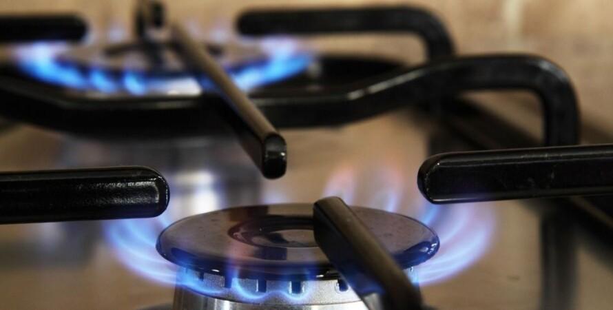 газ, горит, плита, огонь