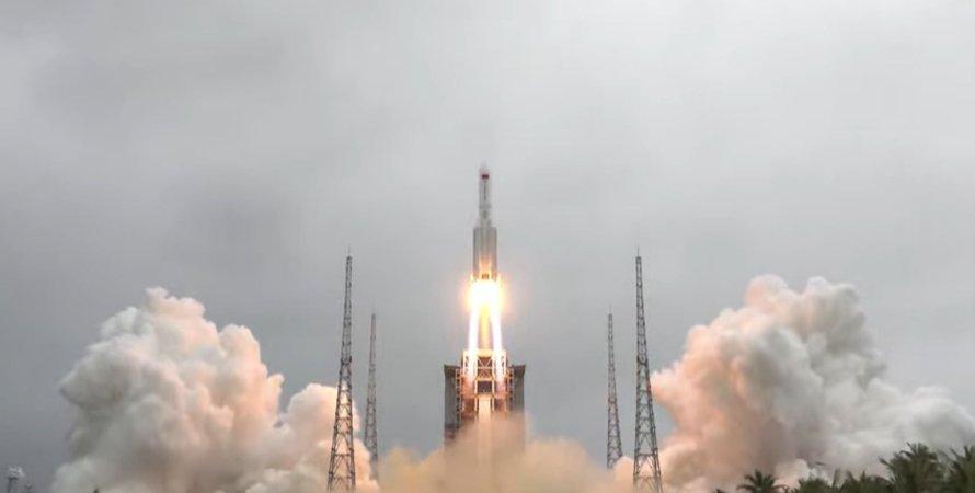 ракета, запуск, Китай, Long March 5B, фото