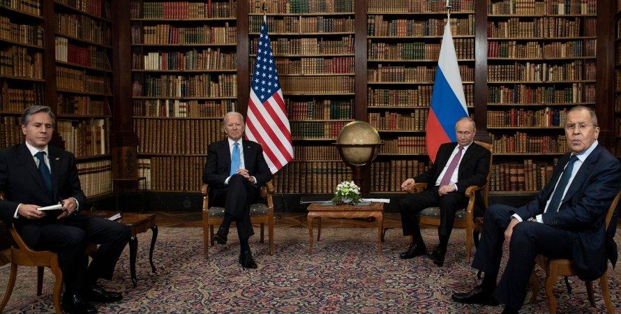Путин, Байден, встреча в Женеве