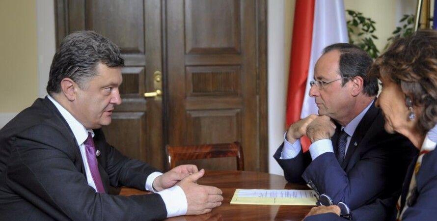 Петр Порошенко и Франсуа Олланд / Фото: facebook.com/petroporoshenko