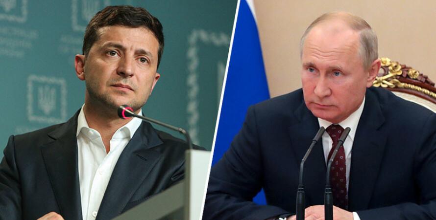Зеленский и Путин, зеленский, путин, встреча, переговоры, кремль, президент, рф, россия, украина