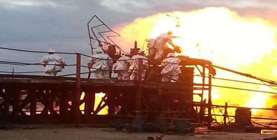 Пожар на газовой скважине / Фото: Facebook