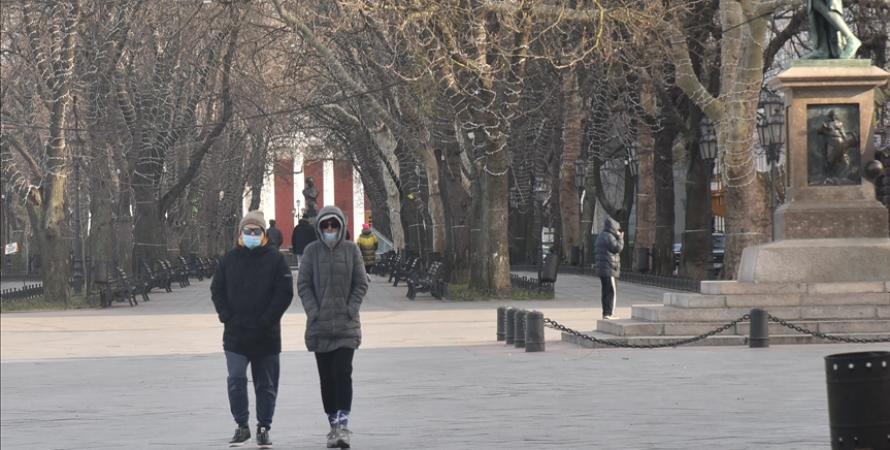 коронавирус, люди, улица, одесса