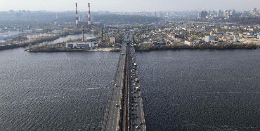 Киев, Южный мост, автомобили, пробка,