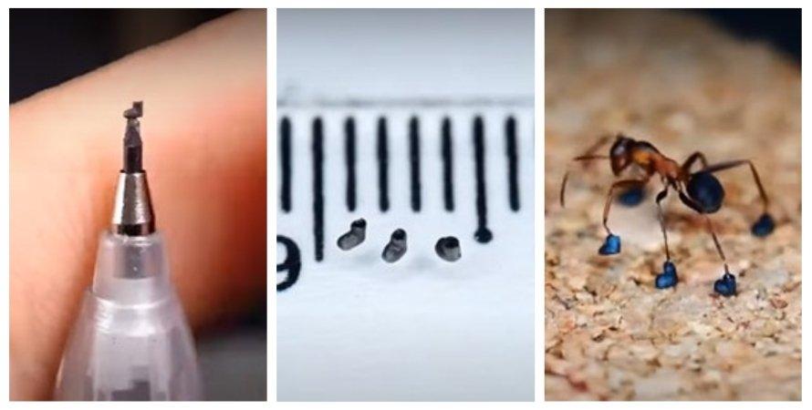 мініатюра, майстер, взуття, мураха