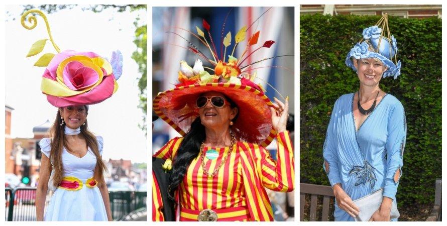 капелюшки, колаж, Royal Ascot