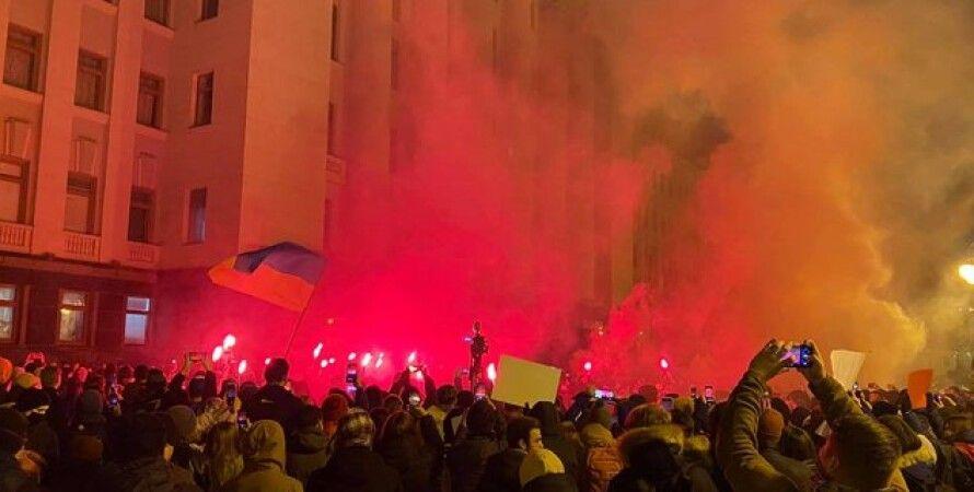 Слуга народу, Верховна Рада, Сергій Стерненко, Вандалізм, Правоохоронці, Протест