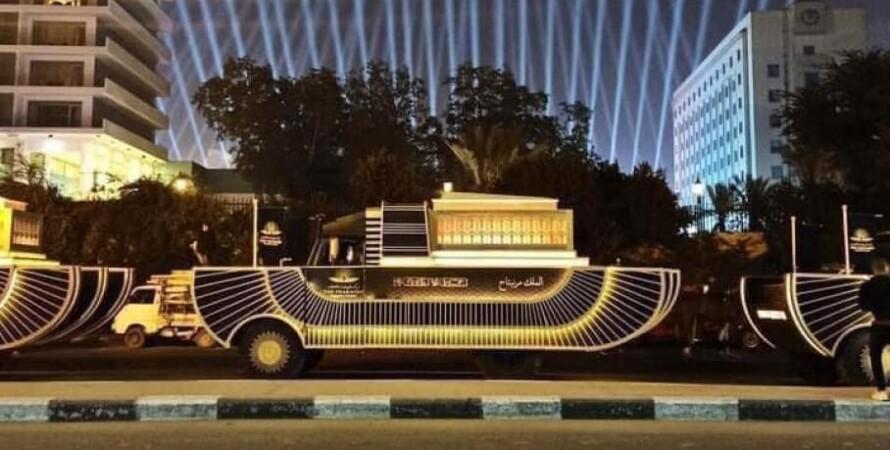 золотой парад фараонов, каир, мумии