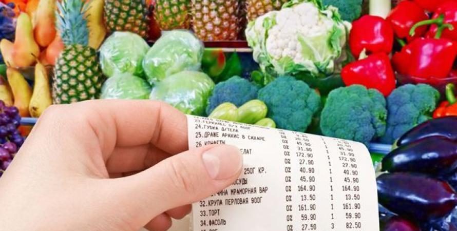 цены, кассовый чек, овощи, магазин
