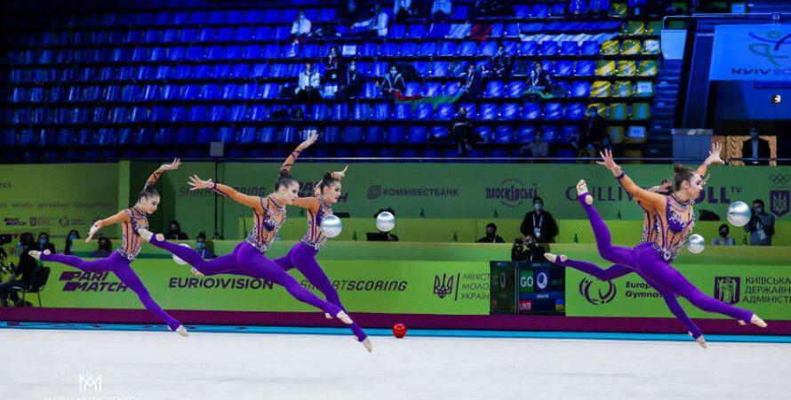 Художественная гимнастика, Чемпионат Европы, Киев, Дворец спорта