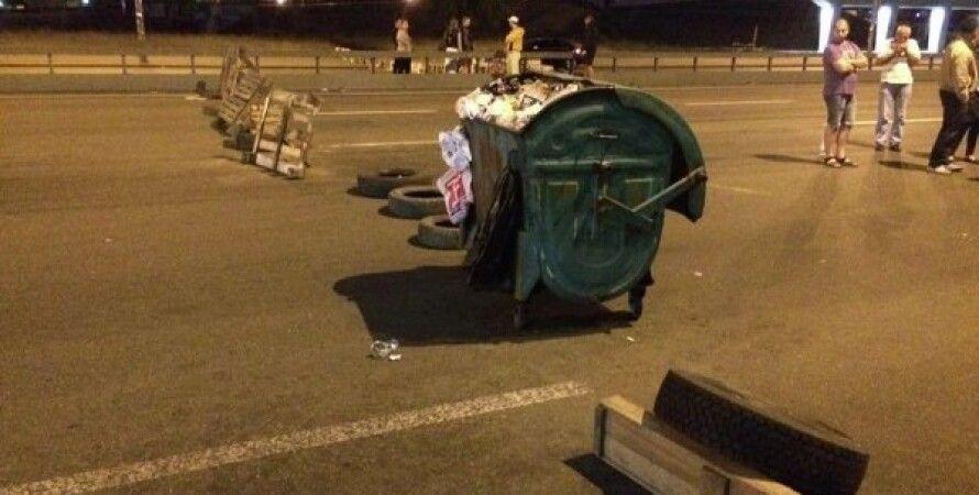 Перекрытый проспект Победы в Киеве / Фото: Вконтакте