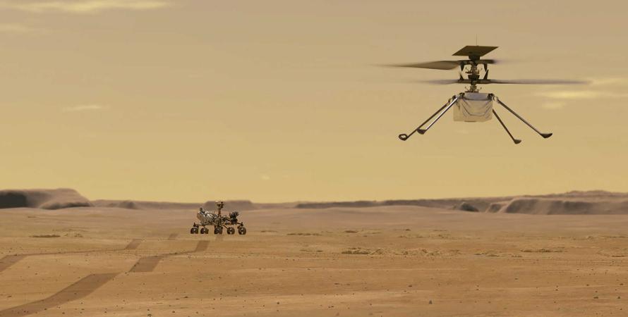 NASA, Марс, операция на Марсе, вертолет Ingenuity, запуск вертолета Ingenuity на Марсе