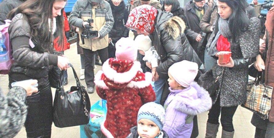 Переселенцы с Донбасса / Фото: thekievtimes.com