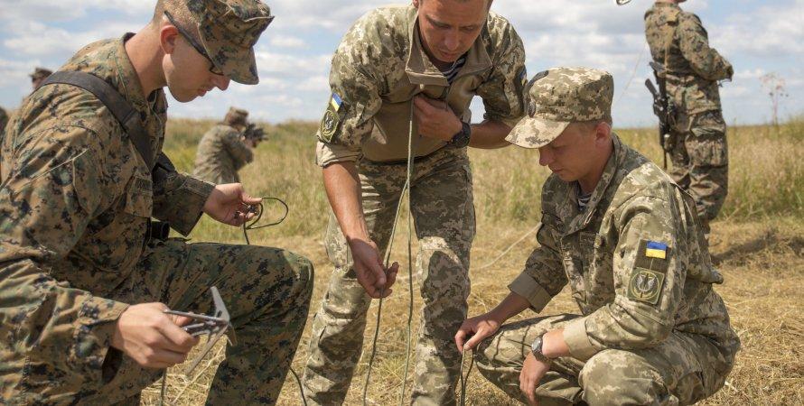 Украинские и американские военные, Широкий лан, полигон