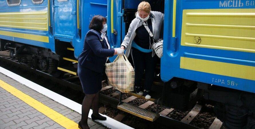 поезд, пассажирские перевозки, уз, укрзализныця, красная зона, каранатин