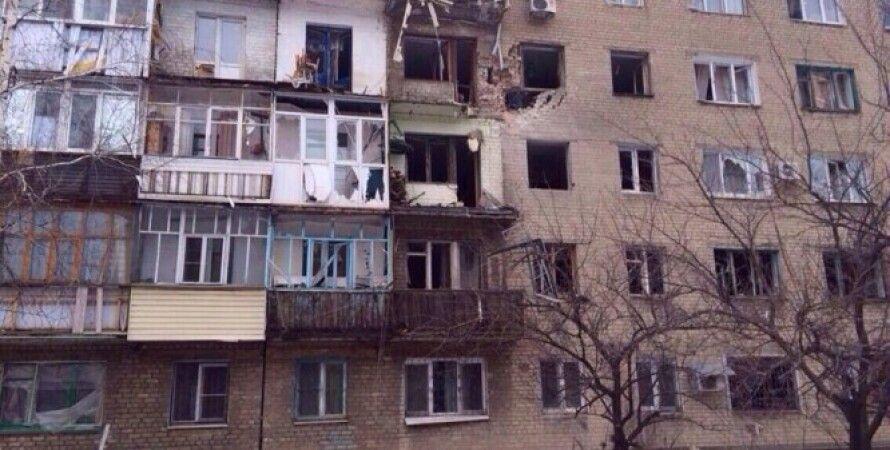 Последствия обстрела Дебальцево 19 января / Фото: Facebook Вячеслава Аброськина