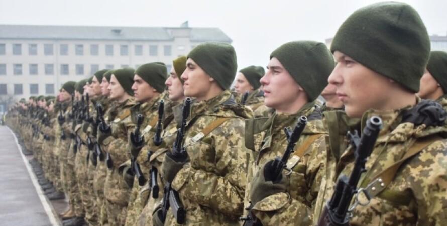 Украинские срочники, служба в армии, весенний призыв 2021, люди в камуфляже