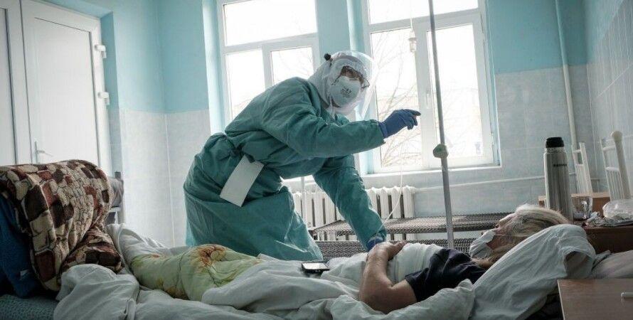 коронавирус, госпитализация, больница, скорая, киев, фото, третья волна коронавируса