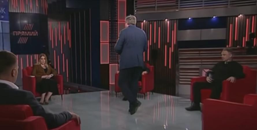 александр качный, нардеп, опзж, сбежал с эфира, сбежал со студии, вопрос о донбассе, ситуация на донбассе