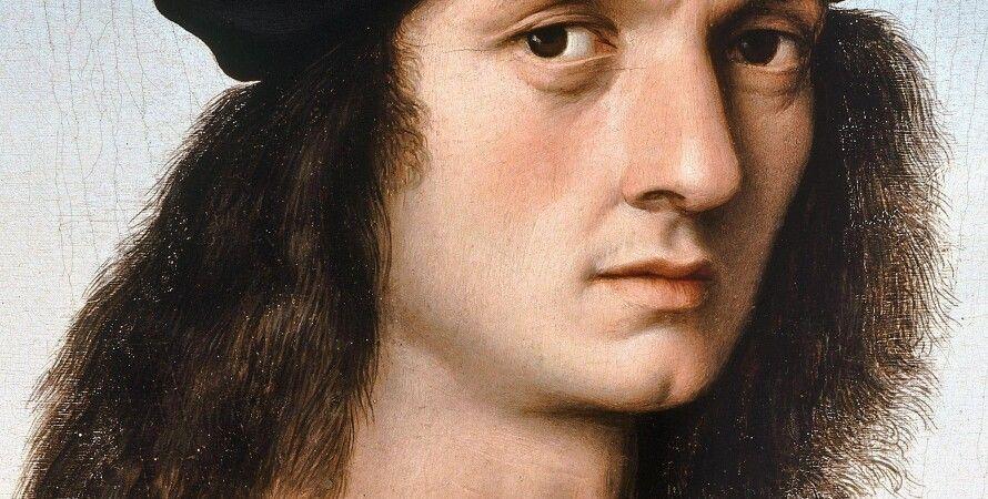 Рафаэль Санти. Портрет Аньоло Дони, фрагмент