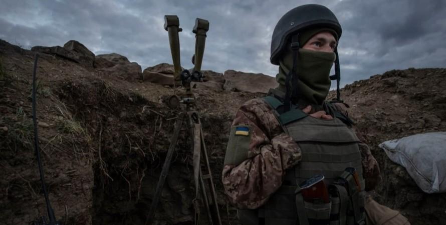 война на Донбассе, бойцы ВСУ, обстрелы на Донбассе, обстрелы позиций ВСУ, зона ООС