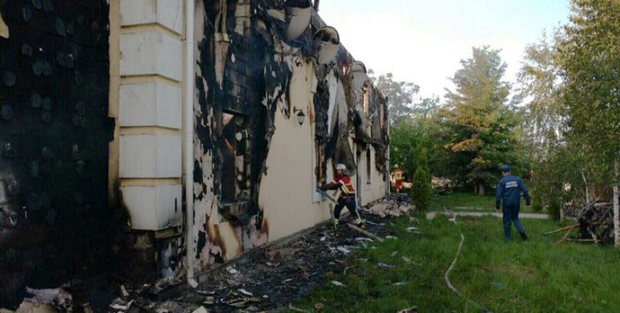 Ликвидация пожара в доме престарелых / Фото: mns.gov.ua