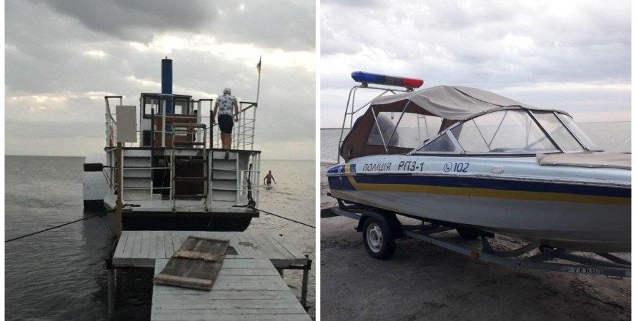 катер, НП з катером, НП в Кирилівці, порятунок катера в Азовському морі