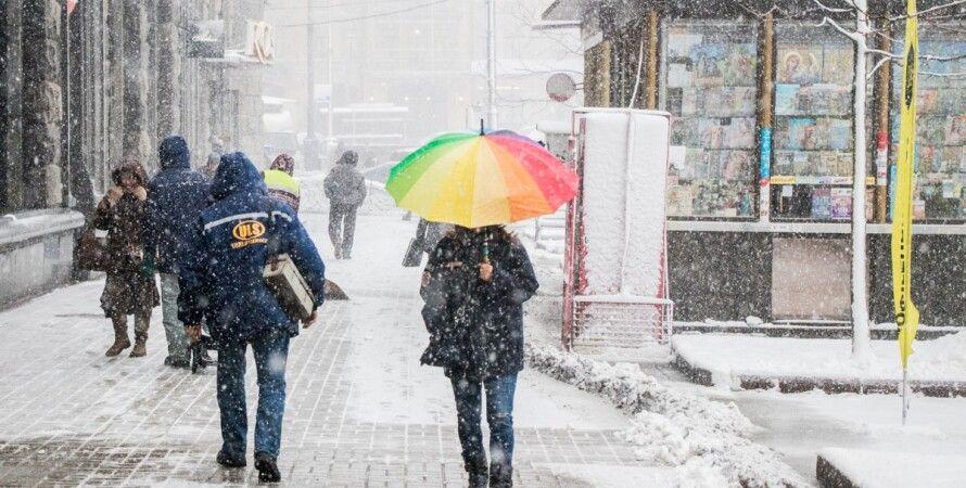 снег, киев, крещатик, февраль