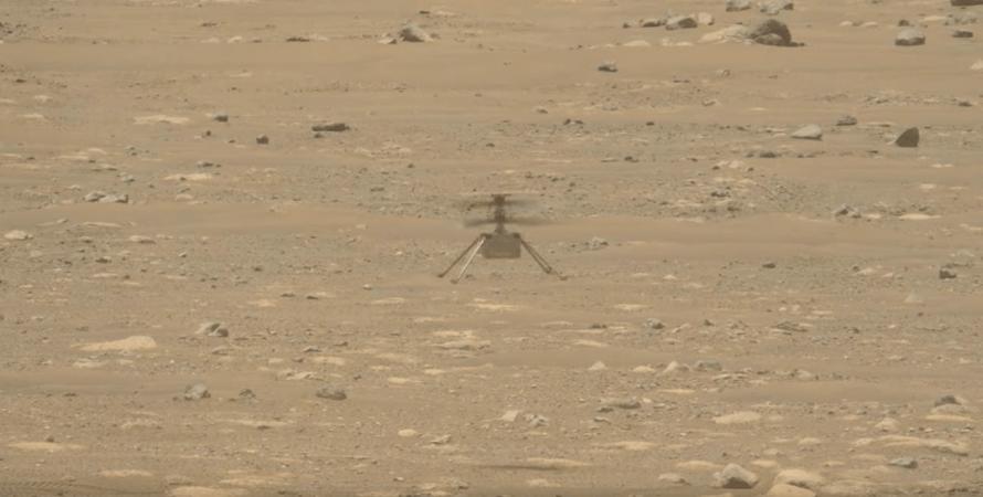 полет вертолета на марсе, ing