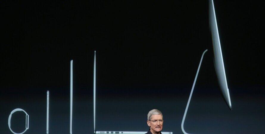 Тим Кук на презентации продуктов Apple / Фото: Getty Images